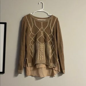 C brown long sleeve sweater size large